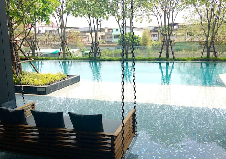1BR Hipster Luxury Best Pool & Gym
