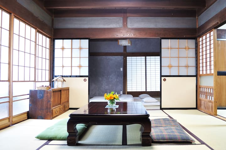 "Traditional Japanese private house ""KUMANOYA""."