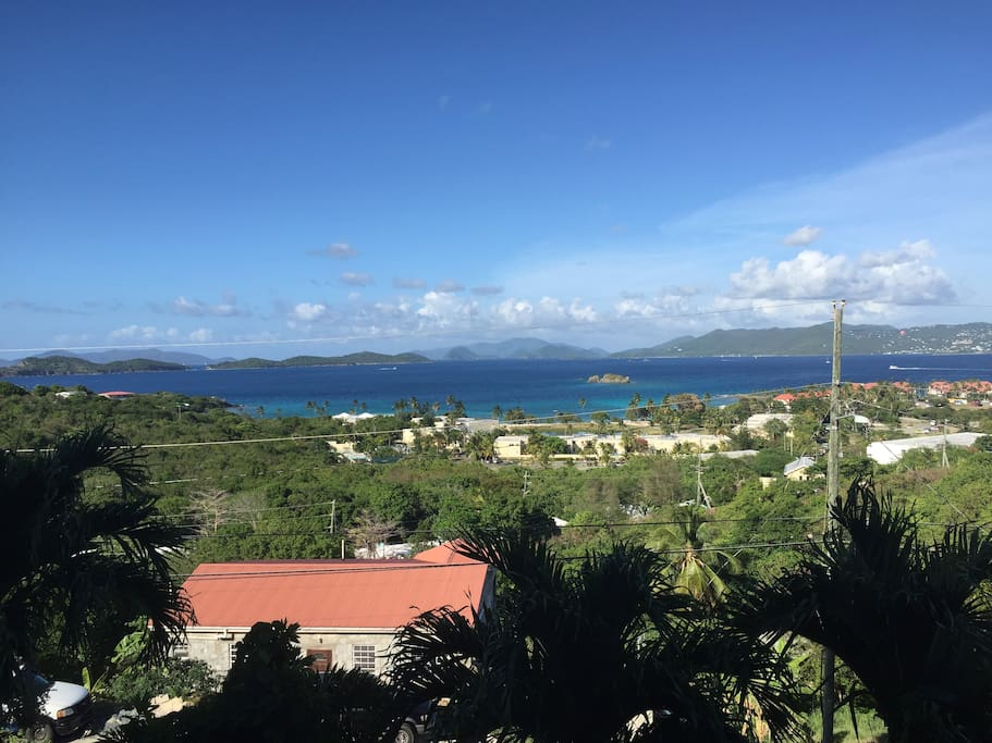 Beautiful views of St. John, some Cays and the British Virgin Islands