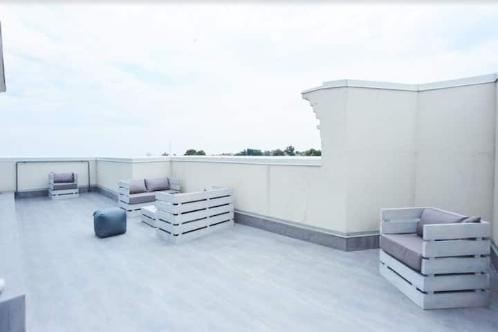 Auto flats with terraces and with sea view