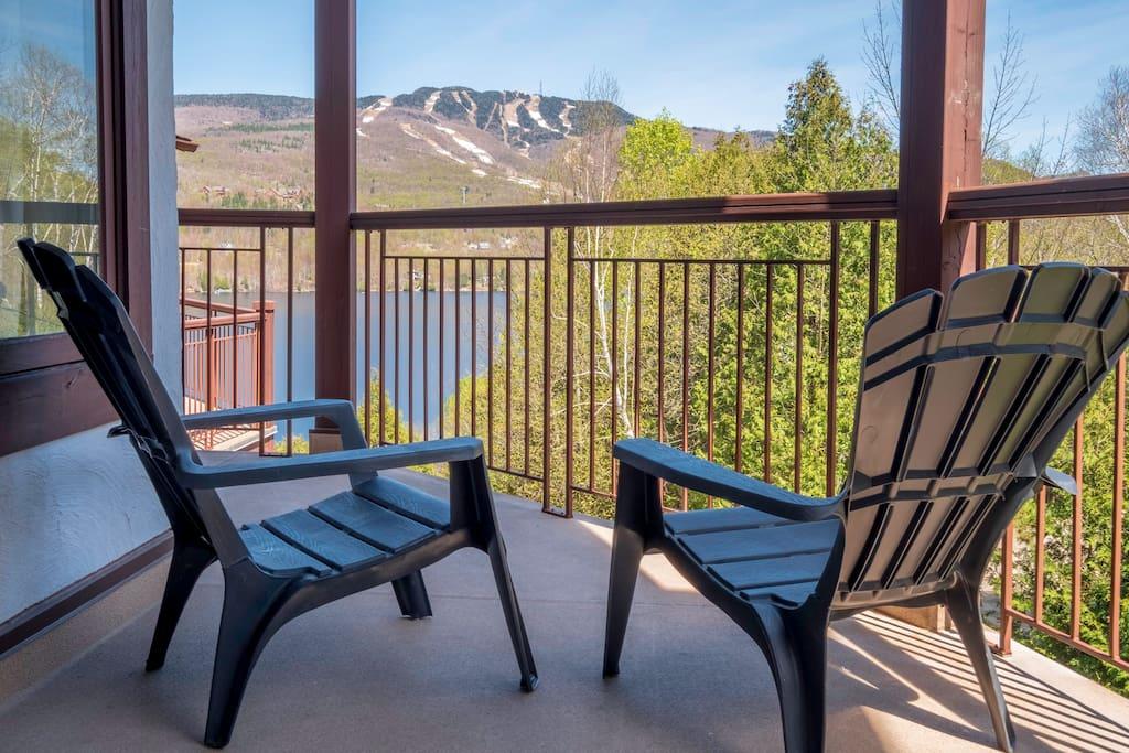 Vue balcon chambre et salon