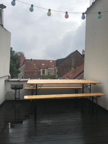 Brussels Style Apartment with Terrace and BBQ