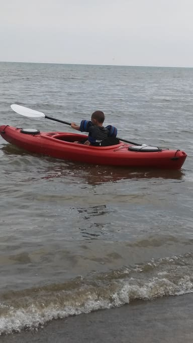kayaks are available.  2 at cottage for you're use. no charge