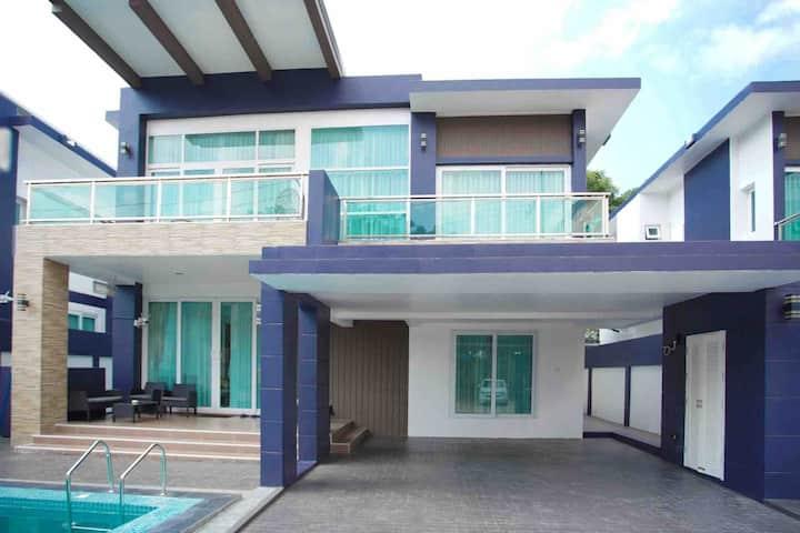 芭堤雅市中心全新5卧豪华泳池别墅center pool villa Pattaya No.3