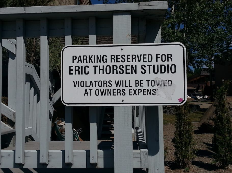 Guest reserved parking spot