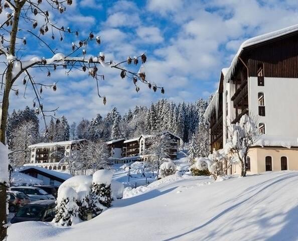 FeWo Oberstaufen Allgäu mit Hallenbad und Spa