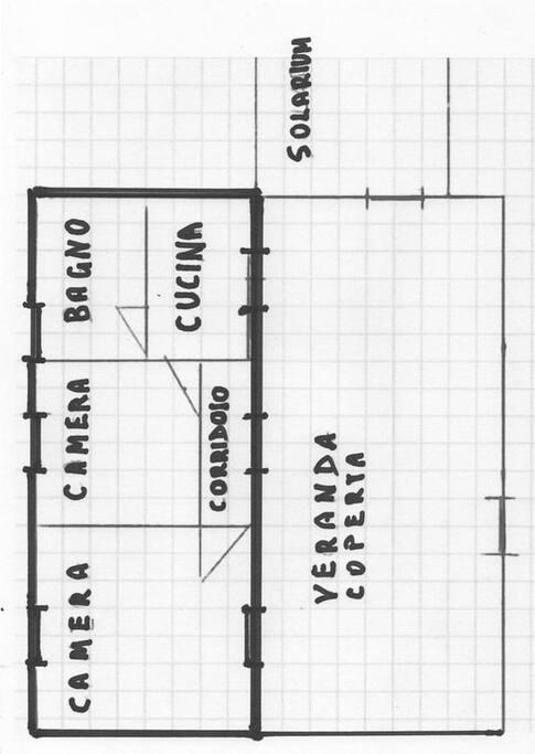 Piantina della nostra casa (45 m.q.)
