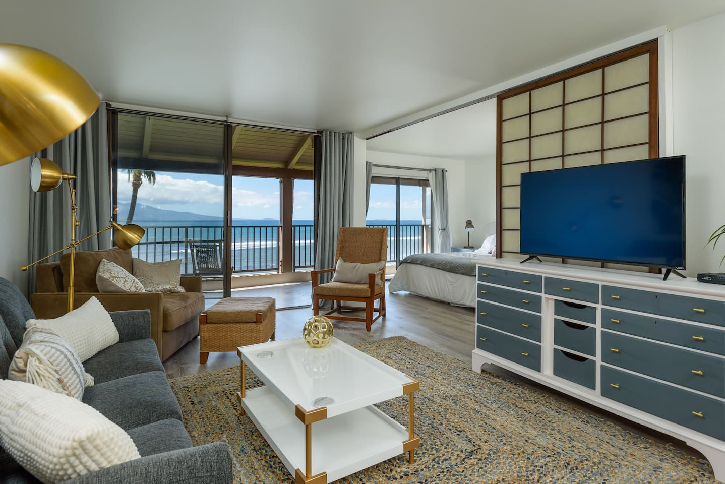 Watch the waves, turtles, and sometimes whales from your living room