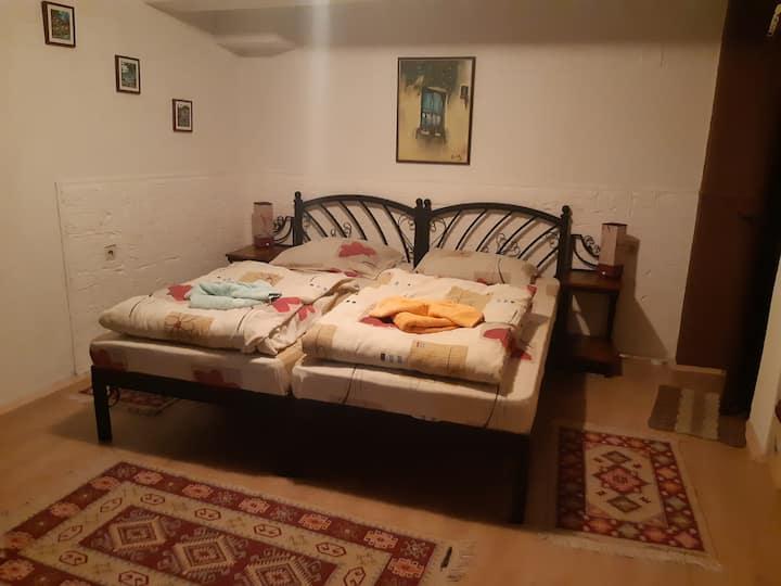 Studio with 2 Beds & Bathroom