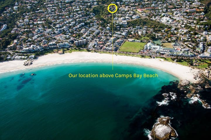 our location on the green belt mount and proximity to Camps Bay Beach and the promenade restaurant strip and shopping