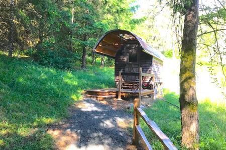 Sheepherder Wagon #1 at Blakesley Creek Farm