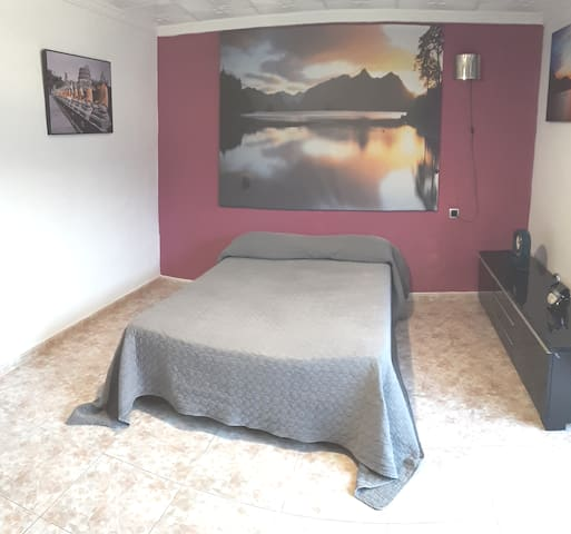 large bedroom for two guests