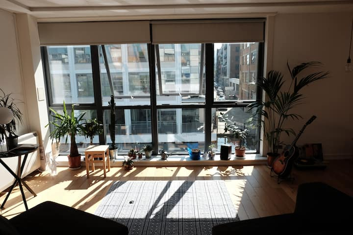 Bright canal side studio flat in Angel