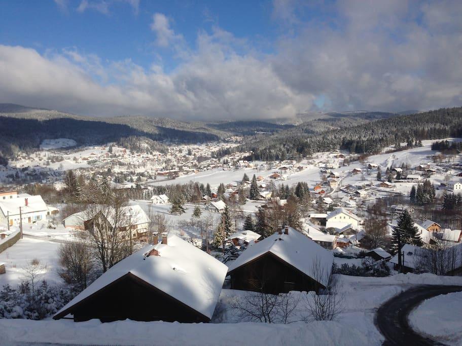 Vue panoramique vallée