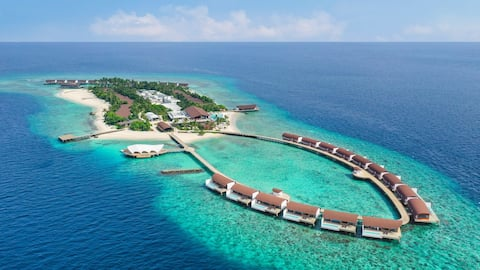 The Maldives Resort  Island, Beach Villa with Private Pool, 1 Bedroom, Ocean View Breakfast Inc.