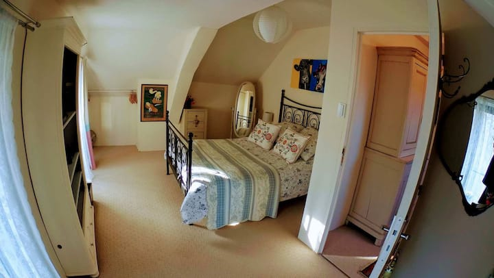 Double room in a former 16th century presbytery.