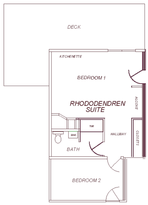 Layout of Rhododendron Suite