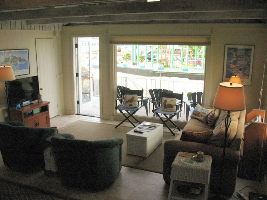 Living Room with access to Balcony deck and lower patio with full views!