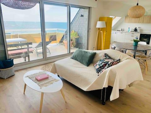 Appartement cocooning en face de la plage