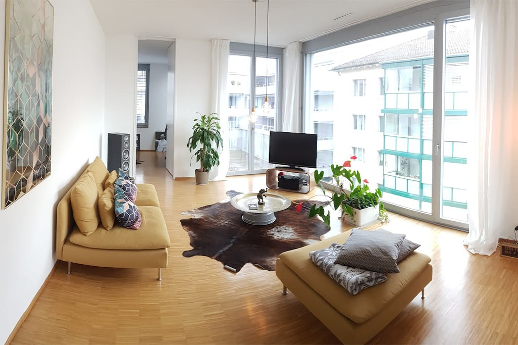 light flooded 110m2 penthouse 15 min from bs world lofts zur miete in basel basel stadt schweiz. Black Bedroom Furniture Sets. Home Design Ideas