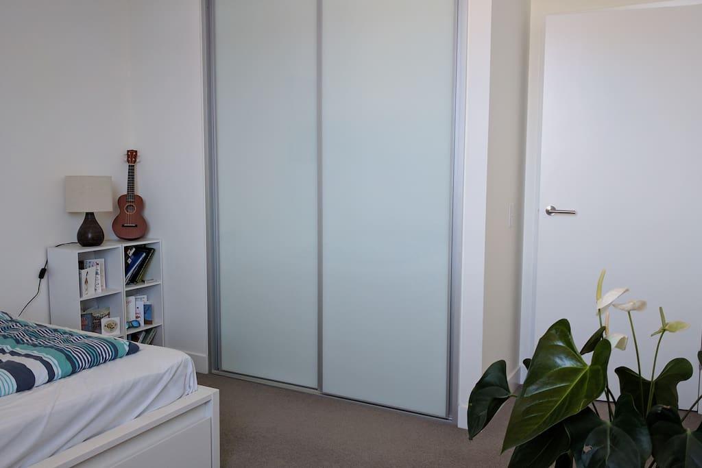 Your bedroom: built in wardrobe