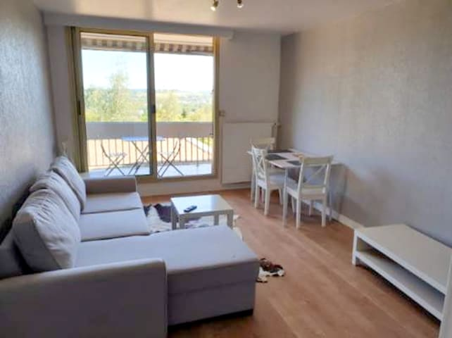 Apartment with one bedroom in Montrichard Val de Cher, with wonderful city view, furnished garden and WiFi