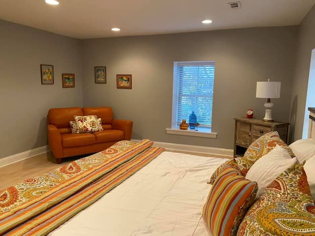 3rd Floor Master Bedroom with King Size Bed and love seat