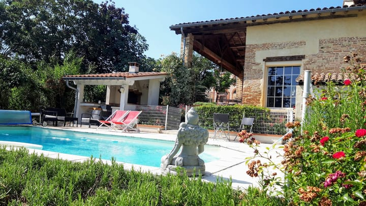 Campagne, Lauragais, piscine...