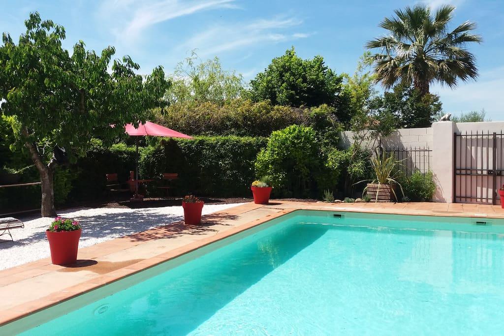 Maisonnette studio avec piscine priv e et jardin h user for Piscine privee montpellier