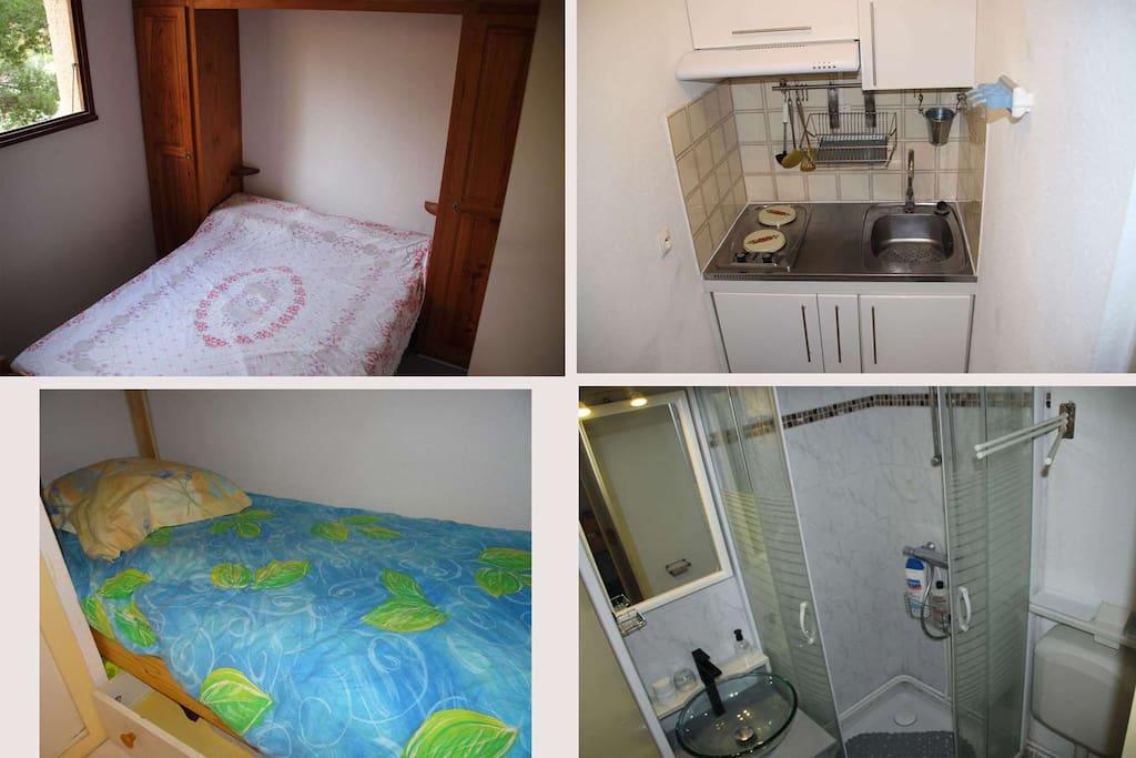 chambre,sdb,cuisine,petite chambre