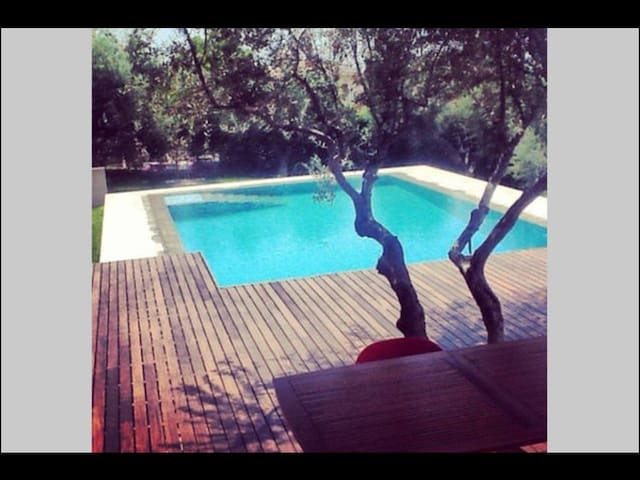 Υπέροχος ξενώνας με πισίνα - Κάτω Καστρίτσι - Andere