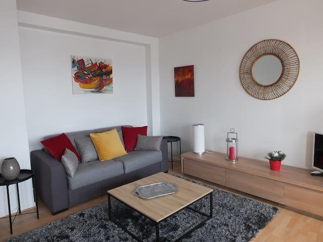 Appartement en centre ville avec vue sur la Loire