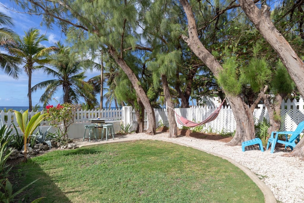 Large private garden,