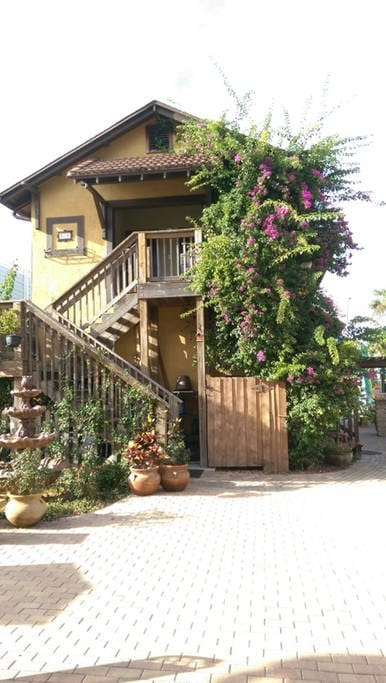 Entrance to your space right off beautiful rear courtyard. Show photo list.