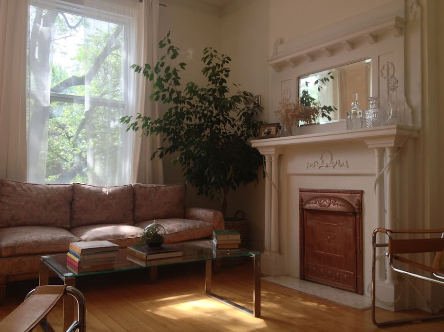 Living room in the mid-morning sun.