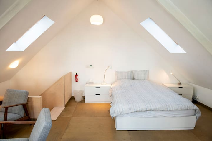Small loft + private bathroom