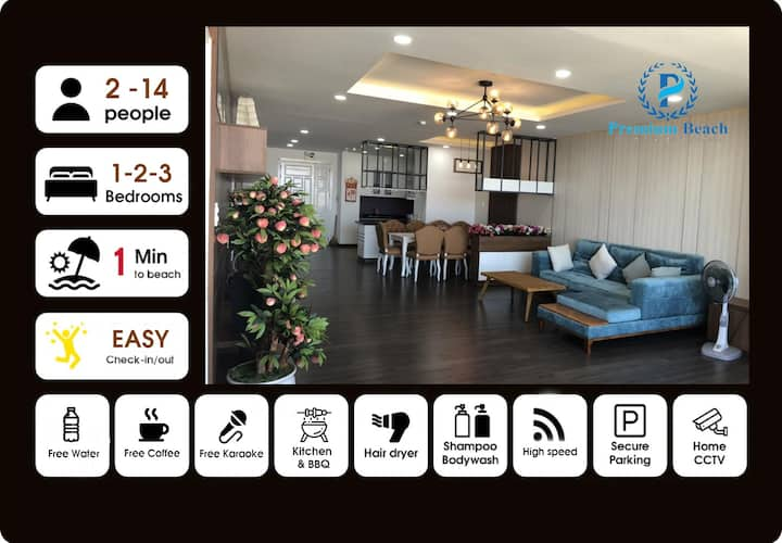 ⭐️SUPER DELUXE⭐️SEA APARTMENT - BEST IN VUNG TAU👍