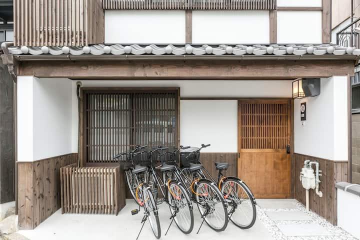 舒适的日式房屋+可爱花园/免费WiFi +自行车