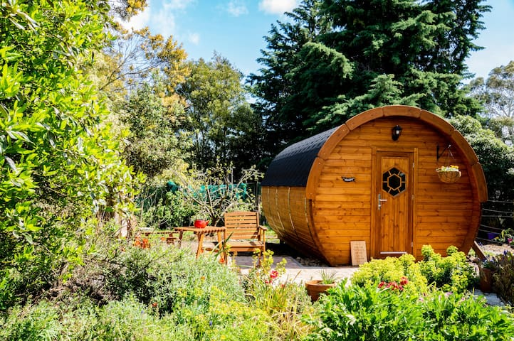 A great night's sleep in our dreamy wine barrel
