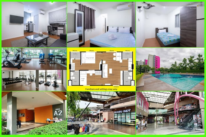 "Family Apartment ""My Home In Bangkok"" C3/223"