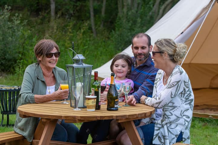 Sleeps-6 family bell tent + camping (dog-friendly)