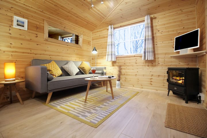 Luxury Scandi Cabin On A Hill, With Stunning Views