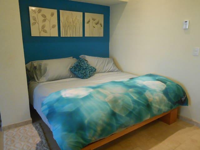Sleeping Area with King Sizw Bed