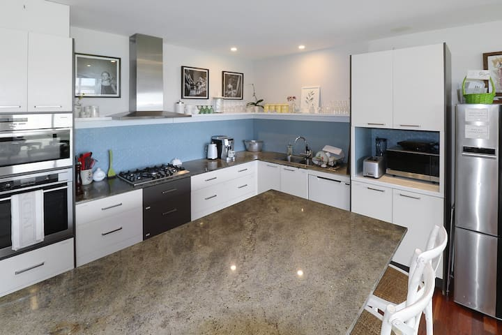 Newly renovated kitchen... a joy to entertain from.