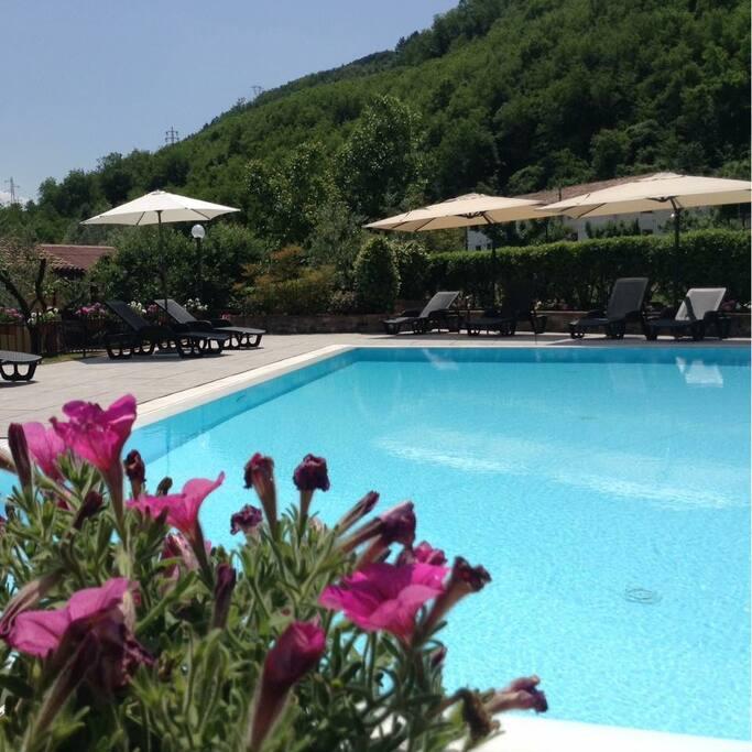 Panoramica piscina condivisa