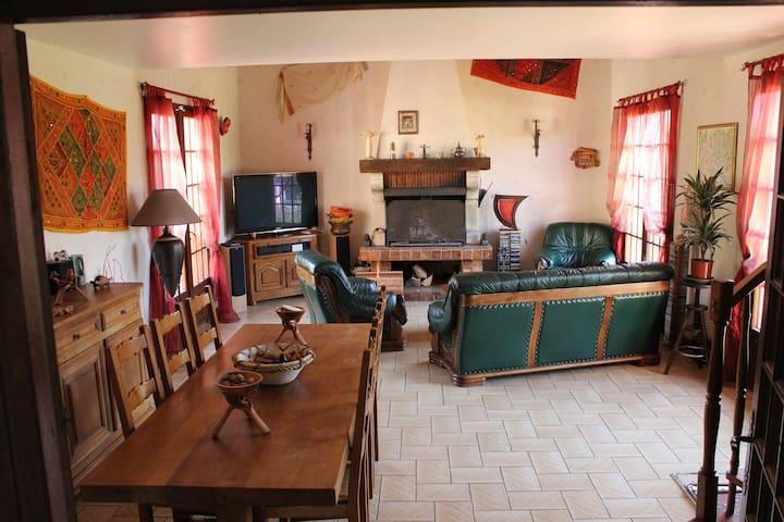 2 chambres lit 2 personnes (+ possib. lit enfant) - Méry-sur-Marne - Casa