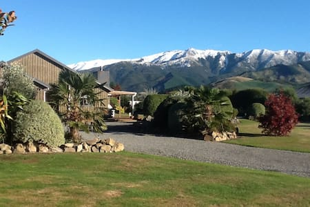 Hanmer Springs accommodation with mountain views.