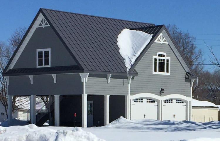 Welcome!  Winter view.  Plenty of parking.  Big yard!
