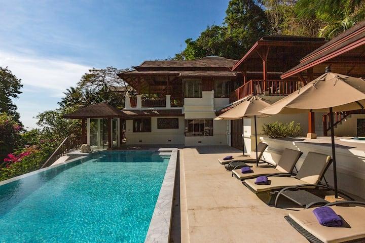 Patong Beach Panoramic 4 BR Seaview Villa