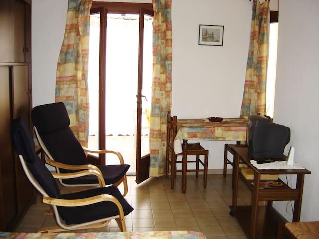 Agréable studio avec terrasse portes coulissantes - Amélie-les-Bains-Palalda - Apartemen